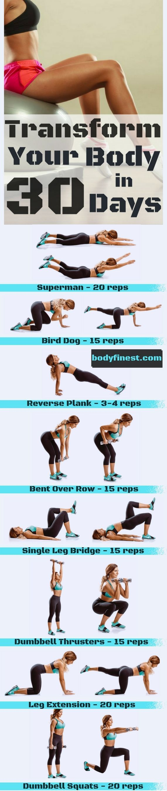 Transform Your Body In 30 Days With 8 Simple Exercises