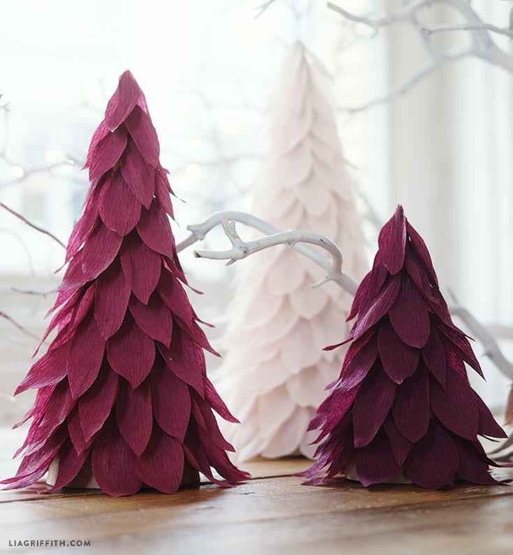 25+ Unique Paper Christmas Trees Ideas On Pinterest