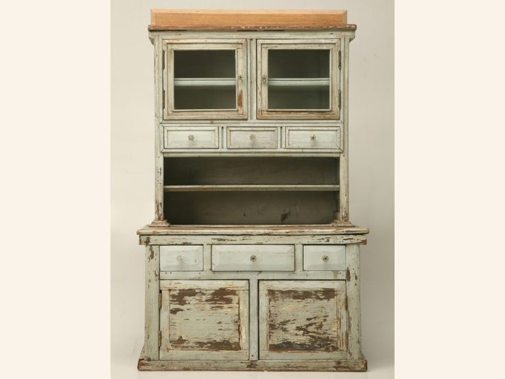 American pine original paint child's cupboard finished in a stunning  Georgian blue with glass knobs. The backboard on top of the piece can be  removed upon ... - 72 Best Children's Furniture & Toys Images On Pinterest