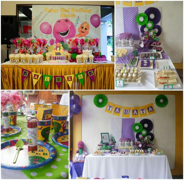 Barney Ideas Party Theme