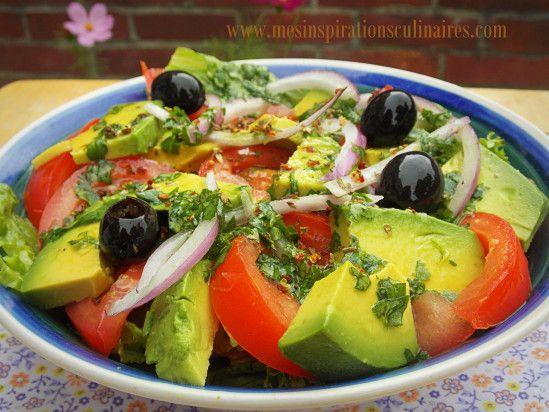 Salade de tomate avocat