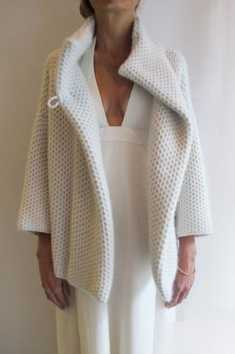 Jussara Lee - obsessed with this cashmere shrug.  I'm afraid to know how much it costs...