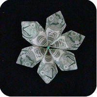 Money Twist Tie Modular Flower  |  Make-Origami.com