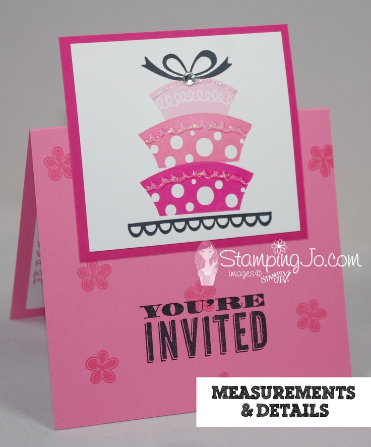 Stamping Jo: Check out this adorable invitation I made for my daughter's birthday party!