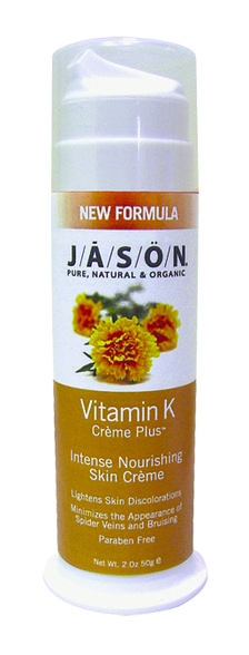 Lighten skin discoloration and reduce the appearance of spider veins and bruising with Jason Vitamin K Creme Plus