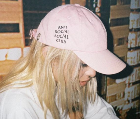 Anti Social Social Club Baseball Hat Cap Pink by LunaLovesVintage