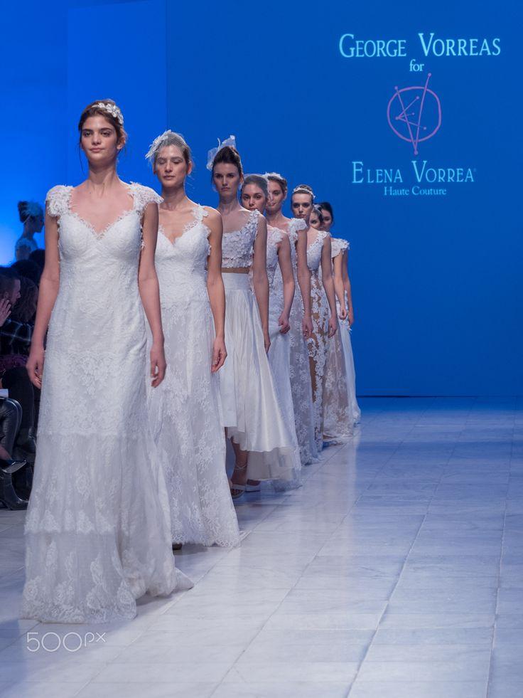 George & Elena Vorea at Bridal Fashion Week 2016