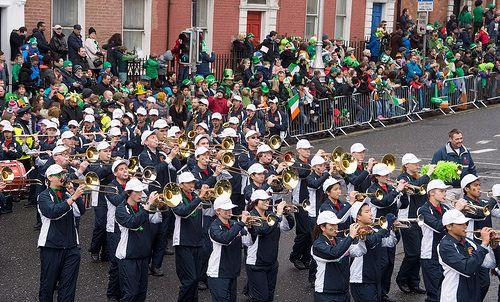 CORONADO HIGH SCHOOL MARCHING BAND AT THE 2015 DUBLIN ST. PATRICK'S DAY PARADE-102344 [The Streets Of Ireland]