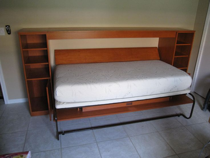 36 best images about twin murphy bed ideas on pinterest for Guest room bed size
