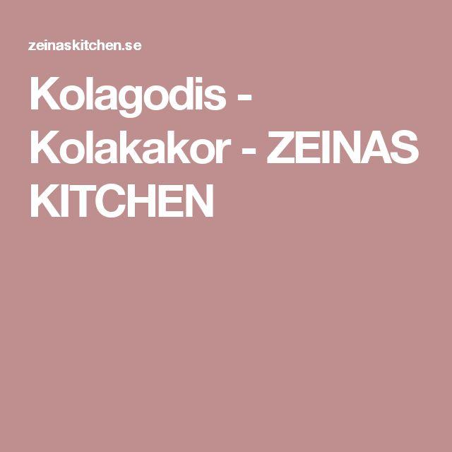 Kolagodis - Kolakakor - ZEINAS KITCHEN
