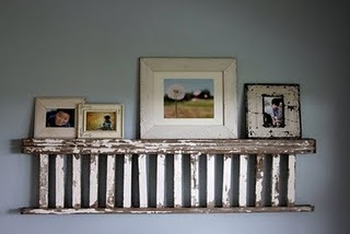 Repurposed vintage ladder Finally!  A great idea to do w/the ladder we saved from the old playscape!