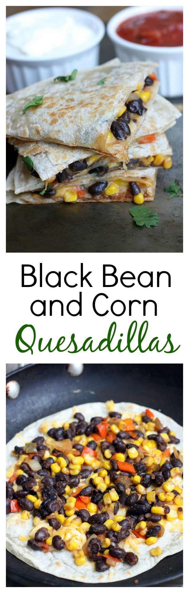 Black Bean & Corn Quesadillas! Gymvets.com #blackbean #quesadilla #mexican #healthy #cleaneating