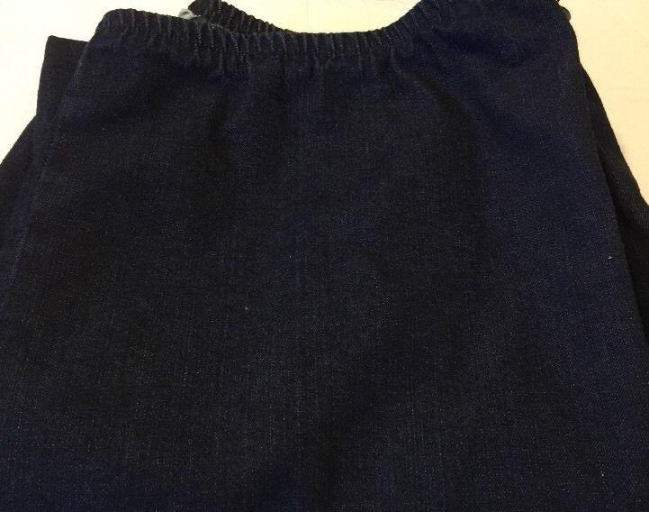 Eileen Fisher Crop Ankle Pants Size Medium Lightly Worn Dark Blue Denim #Girbaud #Denim