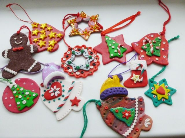 Polymer clay Christmas decoration