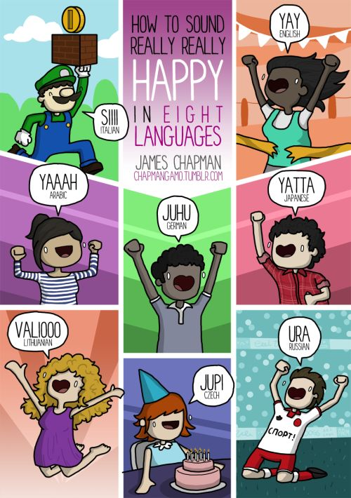 How to sound really happy in different languages by James Chapman