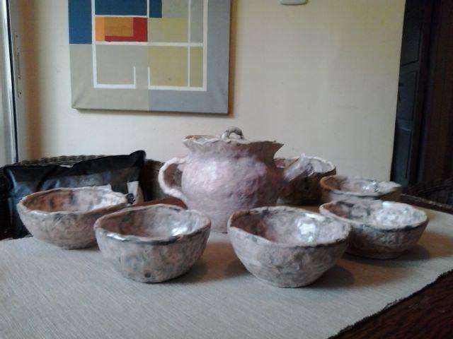 Juego de té en ceramica.