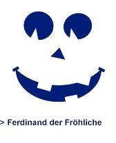 Kürbis Vorlage - Ferdinand der Fröhliche