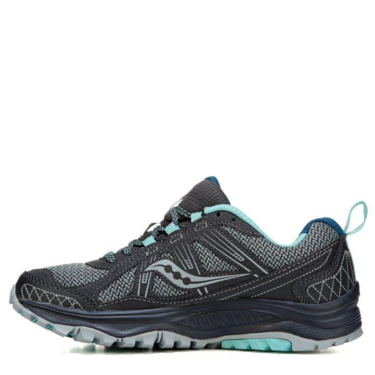 Saucony Women's Excursion TR 10 Plush Trail Shoes (Grey/Mint/Jewel) - 10.0 M