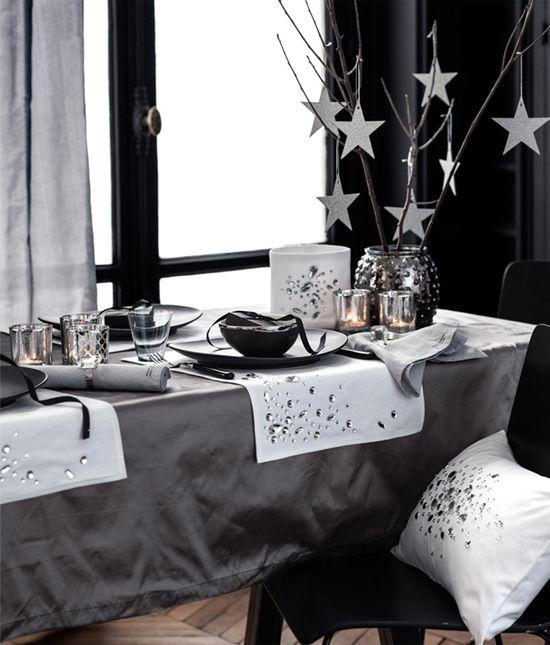 Decoration Table Nouvel An #9: 15 Idées Du0027ambiance Et De Décoration De Table Pour Noël Et Le Nouvel An