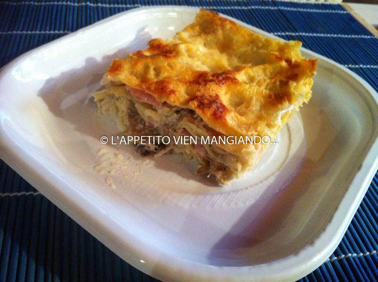 http://blog.giallozafferano.it/cucinadesso/lasagne-carciofi-besciamella-e-prosciutto/
