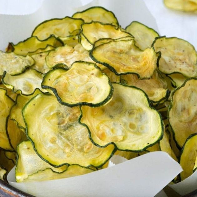 Skinny Points – Recipes  » Salt and Vinegar Zucchini Chips – 2 Smartpoints