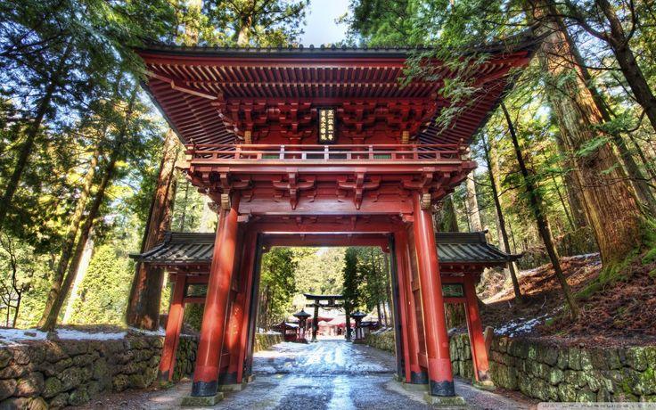 Japan Wallpaper => Shinto Shrine, Torii Япония, Никко, Храм