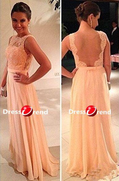 Long Formal Prom Dress  Lace Prom Dresses / Long by DressTrend, $199.99