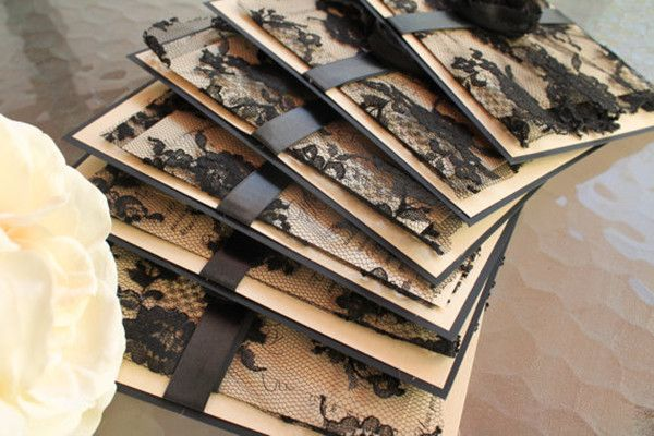 schwarz vintage spitze einladungskarten hochzeit schwarz golden wei hochzeit im winter. Black Bedroom Furniture Sets. Home Design Ideas