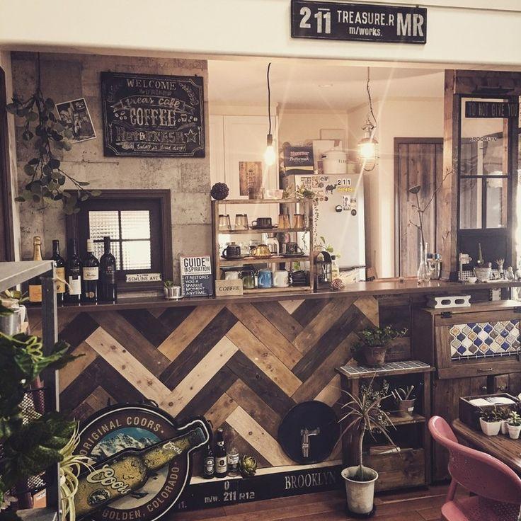 ヘリンボーンでカフェ風インテリア|LIMIA (リミア)