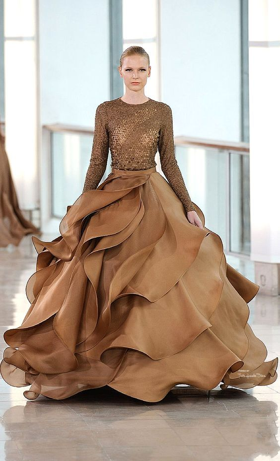 This gown is a powerful statement - by Stephane Rolland (designer).