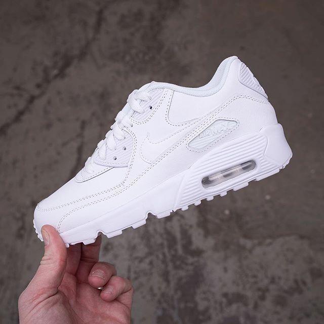 Nike Air Max 90 Leather GS – 833412 100 • Sneakers • Vita