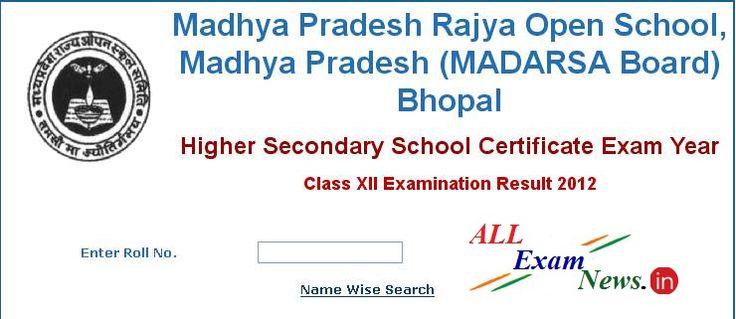 1-10 of 3449  Madhya Pradesh Open School Exam results 2015- 10 th, 12 th class results