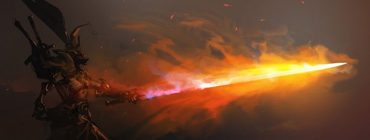 Flaming Sword by cobaltplasma on DeviantArt