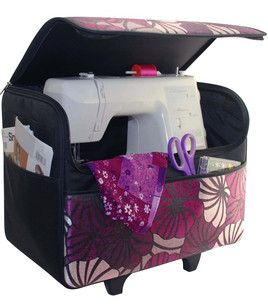 Rolling Sewing Machine Case Purple Totes Storage Joann 12 Pins Of Christmas Projects Crochet