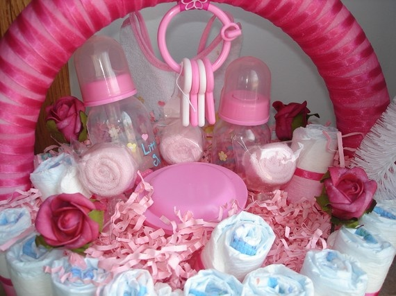 diaper basket baby shower centerpiece by on etsy