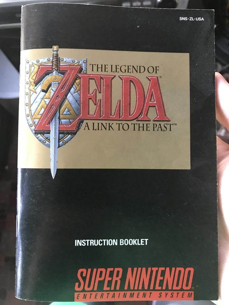 The Legend of Zelda: A Link to the Past Instruction Booklet for the Super Nintendo