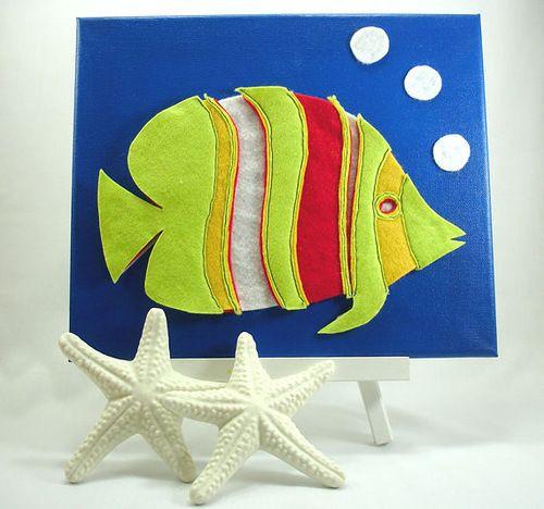 Тканевые картинки для декора детской комнаты - Декор