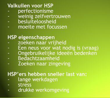 HSP en passend werk