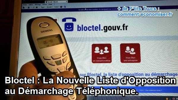 Si vous recevez des appels commerciaux intempestifs de grosses boîtes, comme SFR, Engie, Canal +, Volkswagen, Société Générale... ce service devrait vous plaire ! Pour ne plus recevoir d'appels indésirables, c'est simple, il suffit de s'inscrire sur le site de Bloctel.  Découvrez l'astuce ici : http://www.comment-economiser.fr/inscrivez-vous-a-bloctel-pour-bloquer-les-appels-commerciaux.html?utm_content=bufferbbd20&utm_medium=social&utm_source=pinterest.com&utm_campaign=buffer