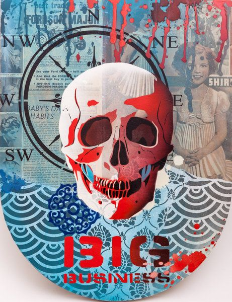Artfind.co.nz - Artwork - MIXED MEDIA - Human Skull 1.2 by Brad Novak