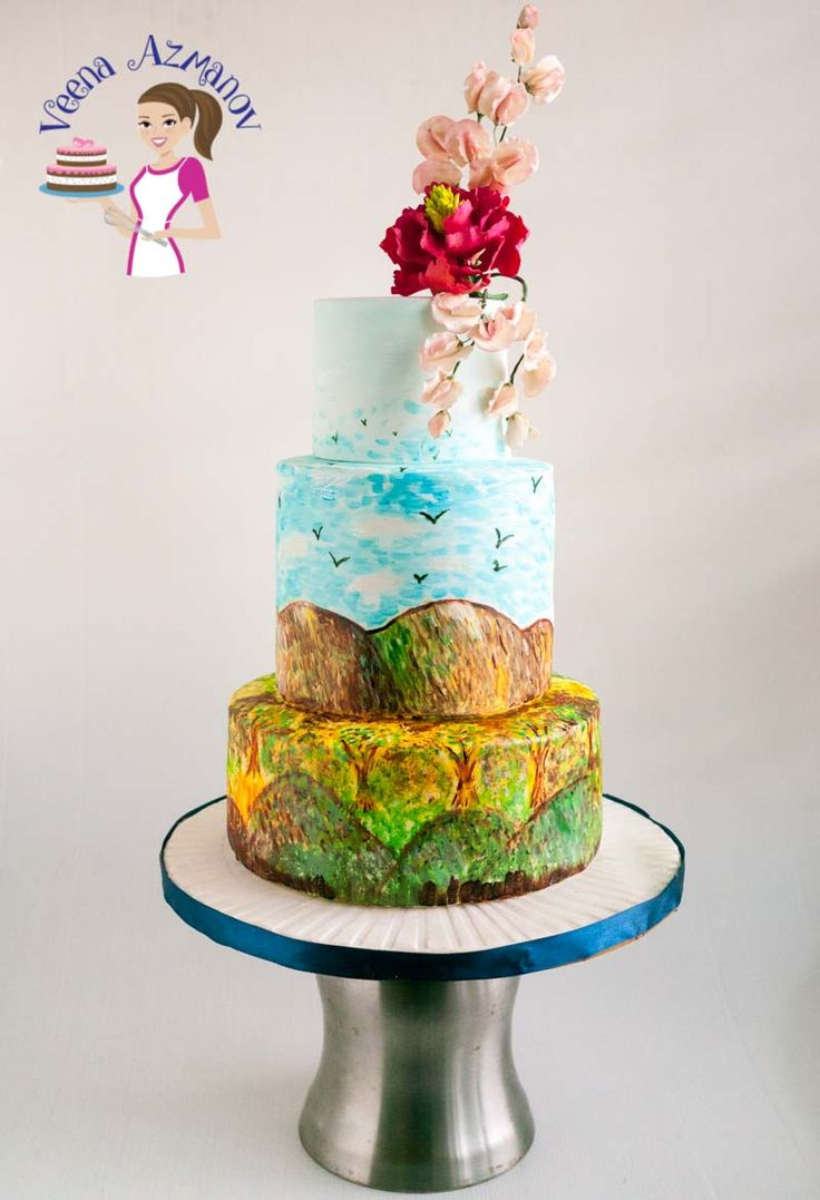 17 Best Ideas About Hand Painted Cakes On Pinterest