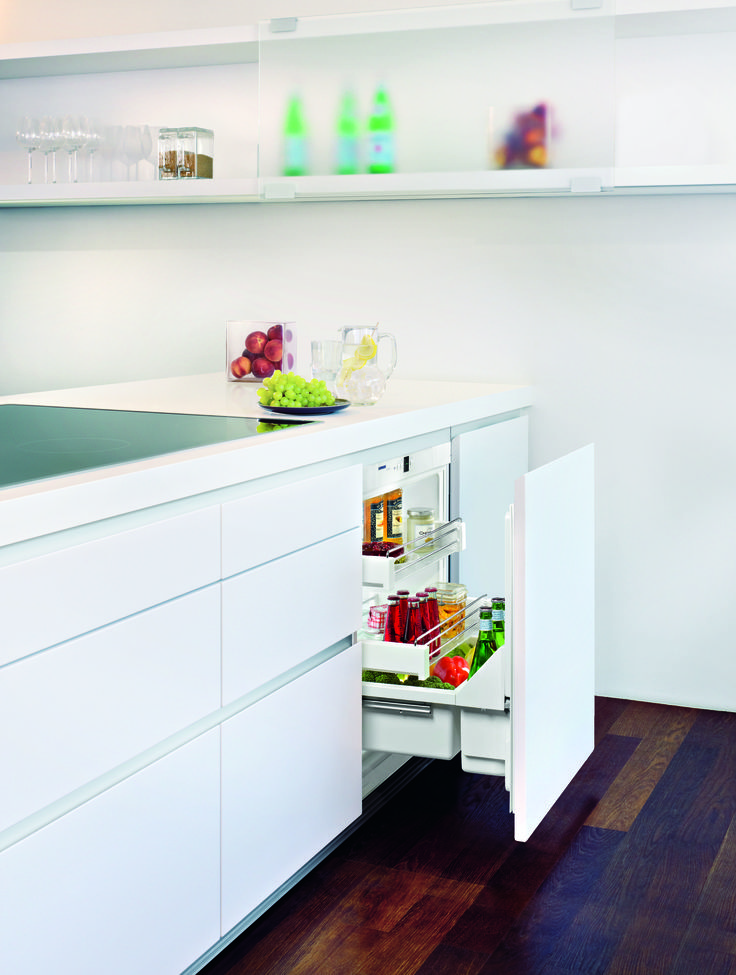 Liebherr's Undercounter Pullout Refrigerator, which features intuitive adjustable shelves and soft-close doors