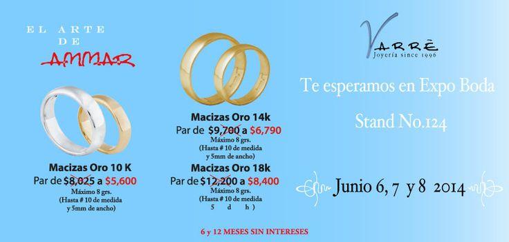 El Arte de Ammar  ♥  Ven a Expo Boda Stand No.124 Junio 6, 7 y 8. Grandes Promociones para ti 6 y 12 Meses sin Intereses en nuestra joyería #promociones #argollasdematrimonio #bodas #añonuevo #sábado #compromiso #eshoradedisfrutar #novia #novio #anillodecompromiso #joyería #descuentos #junio #churumbelas #expoboda #bodaclick #parejas #eventos #boda #amor #anillos #aretes #gargantillas #mama #papa