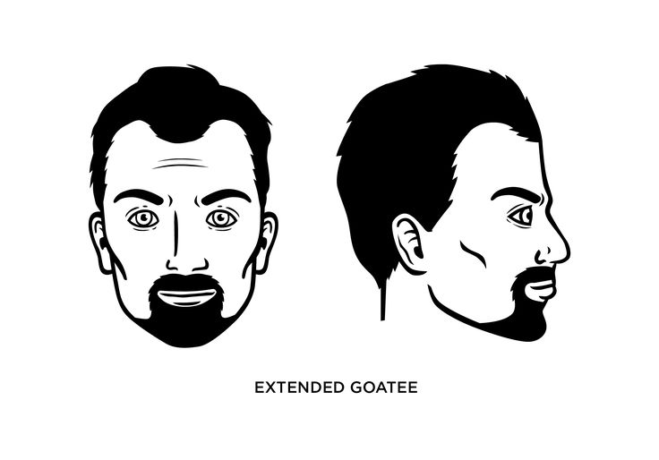 The extended goatee is a mustache extending into a beard. Read our guide on how you can trim it, look at examples, what face shape it fits best, and more.
