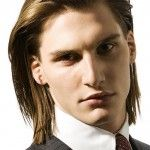 silky straight long hairstyles for men