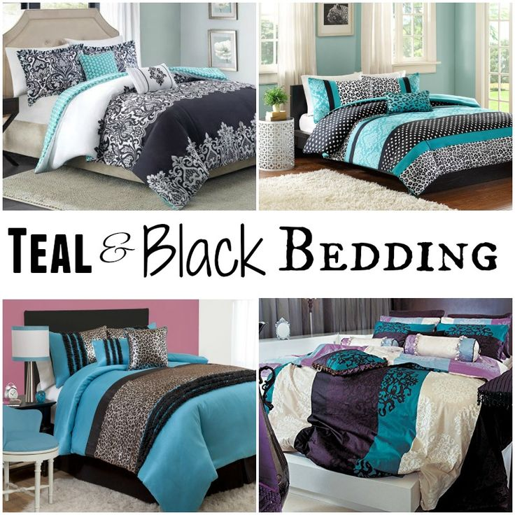 1000 images about teal and black bedding sets on pinterest for Black and teal bedroom designs