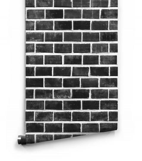 Lubeck Black Bricks Wallpaper » Kemra » Milton & King