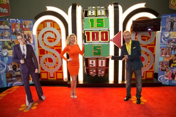 SXSW attendees try their luck at The Price is Right Wheel!