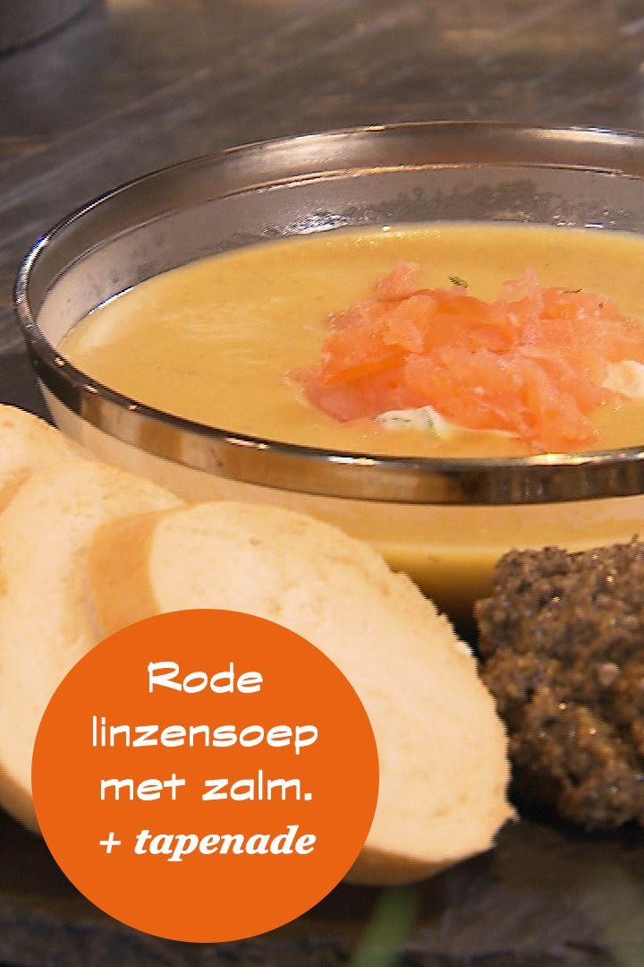 Sharon laat zien dat je binnen tien minuten een feestelijke kruidige soep kan maken. Samen met tapenade, griekse yoghurt en gerookte zalm. Van vitamine A tot omega 3 verantwoord! Maak het zelf! Het recept staat op de site! #rodelinzen #soep #recepten