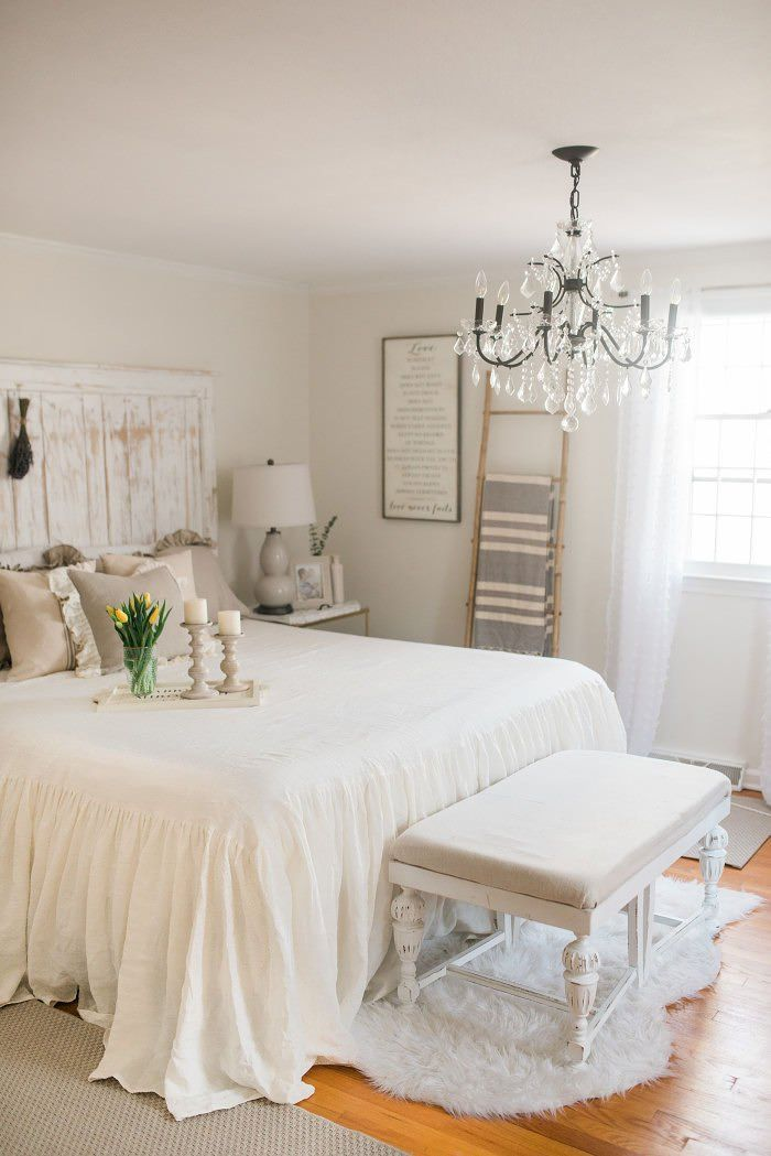 Love The Chandelier French Country Farmhouse Decor Our Bedroom Sparkling Footsteps
